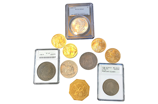 Find Foreign/Domestic Rare Coins, Currency